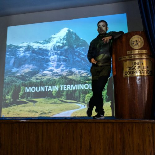 Lecture at HMI on Mountain Terminology