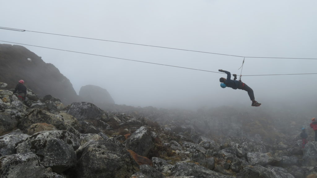 Zip lining used for river crossing
